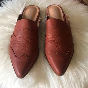 Brick colored Mi.iM Kendrick Mule woman's shoes
